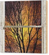 Sunset Into The Night Window View 3 Wood Print