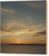 Sunset Island Wood Print