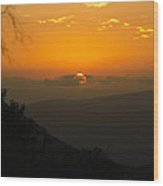 Sunset Jamul Wood Print