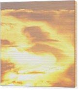 Sunset Jesus Wood Print