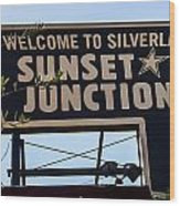 Sunset Junction Wood Print