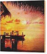 Sunset Key Largo Florida - 2 Wood Print