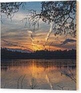 Sunset Lake Horicon Lakehurst New Jersey Wood Print