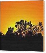 Sunset Landscape Wood Print