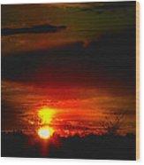 Sunset Landscape Photograph Wood Print