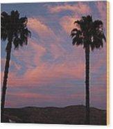 Sunset Landscape Xi Wood Print