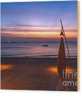 Sunset Lanta Island  Wood Print
