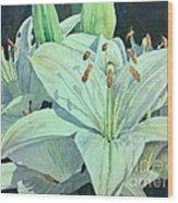 Sunset Lily Wood Print