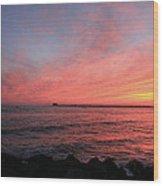 Sunset Longport N.j. Wood Print
