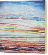 Sunset Low Tide Rhythms And Textures 5 Wood Print by Mike   Bell
