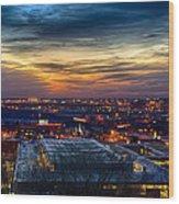 Sunset Metro Lights And Splendor Wood Print