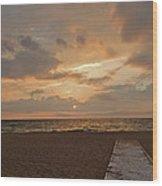 Walkway To The Sunset Wood Print