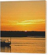 Sunset Morro Bay California Wood Print