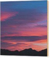 Sunset Mountains Wood Print