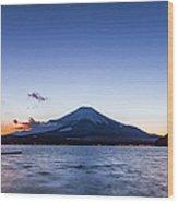Sunset Mt. Fuji Wood Print