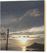 Sunset Near Fort Charlotte Wood Print