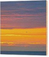 Sunset Near Honolulu Harbor Wood Print