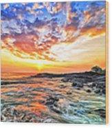 Sunset Near Old Kona Airport Wood Print