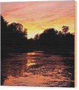 Sunset Near Rosemere - Qc Wood Print