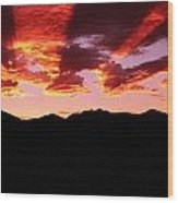 Bitterroot Sunset Wood Print