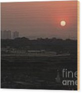 West Skyline Of Pune Wood Print