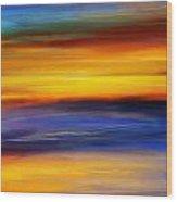 Sunset Of Light Wood Print