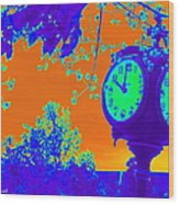 Sunset Of Time Wood Print