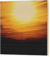 Sunset Of Tularosa Wood Print