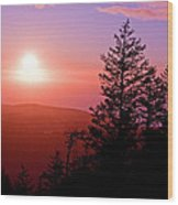 Sunset Off Mt Erie Washington Art Prints Wood Print