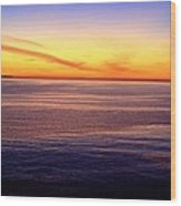 Sunset Off Point Vicente Wood Print
