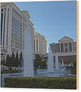 Sunset On Caesar's Palace Wood Print by Natural Focal Point Photography