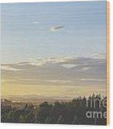 Sunset On Golf Links Wood Print