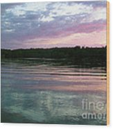 Sunset On Gull Lake Wood Print