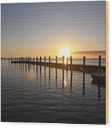 Sunset On Key Largo Wood Print