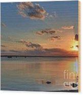 Sunset On Key Largo Wood Print
