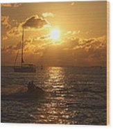 Sunset Over Key West Wood Print