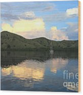 Sunset On Komodo Wood Print