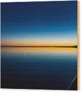 Sunset On Lake Mille Lacs Wood Print