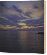 Sunset On Lake Poygan 1 Wood Print