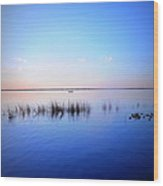 Sunset On Lake Washington 2 Wood Print by Kay Gilley