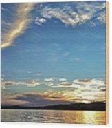 Sunset On Lake Wentworth Wood Print by Richard Lent