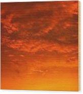 Orange Cloud Sunset Wood Print