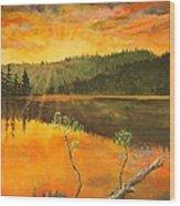 Sunset On Navajo Lake Wood Print