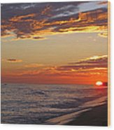 Sunset On Newport Beach Wood Print