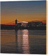 Sunset On Paul Brown Stadium Wood Print