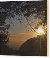 Sunset On San Jacinto Wood Print