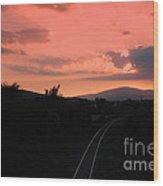 Sunset On Slievenamon  Wood Print