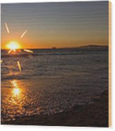 Sunset On Sunset Beach Wood Print