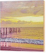 Sunset On Tahiti Wood Print