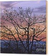 Sunset On Tanners Ridge Wood Print